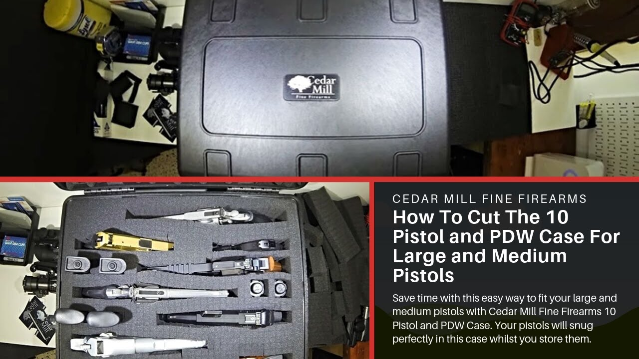 Cedar Mill Fine Firearms: How To Cut The 10 Pistol and PDW Case For Large and Medium Pistols