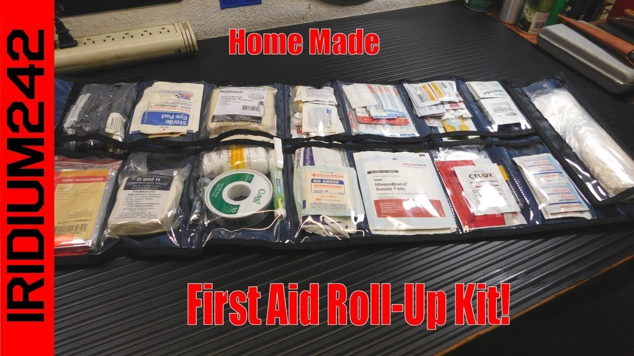 Make Your Own First Aid Kit From A Roll Up Organizer!