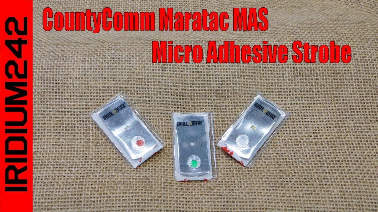 CountyComm Maratac MAS: Micro Adhesive Strobes!