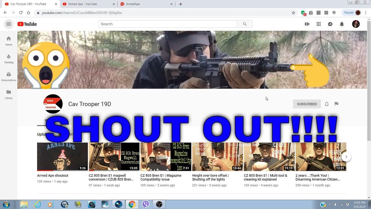 Cav Trooper 19D: Response and a Shout