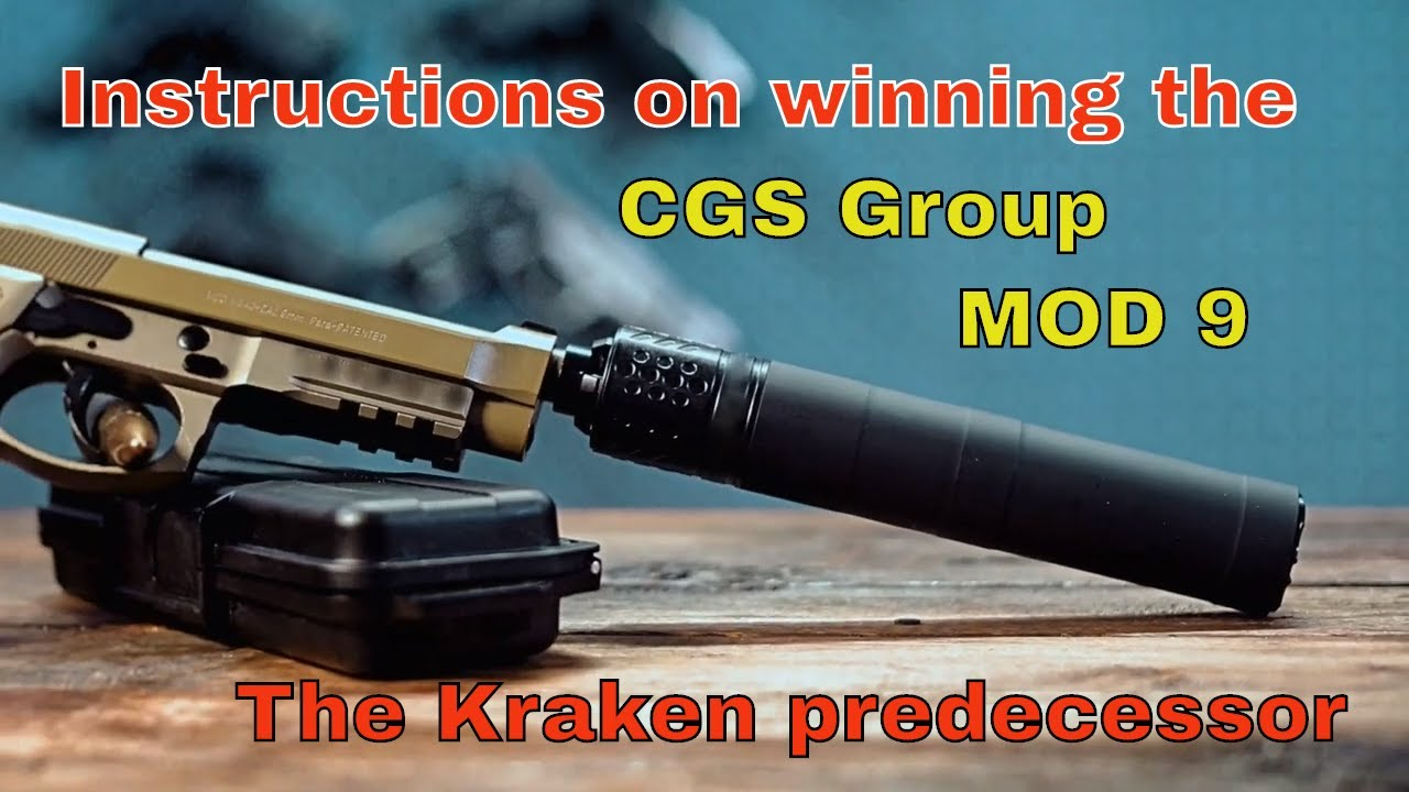 Entry instructions for the CGS MOD 9 suppressor