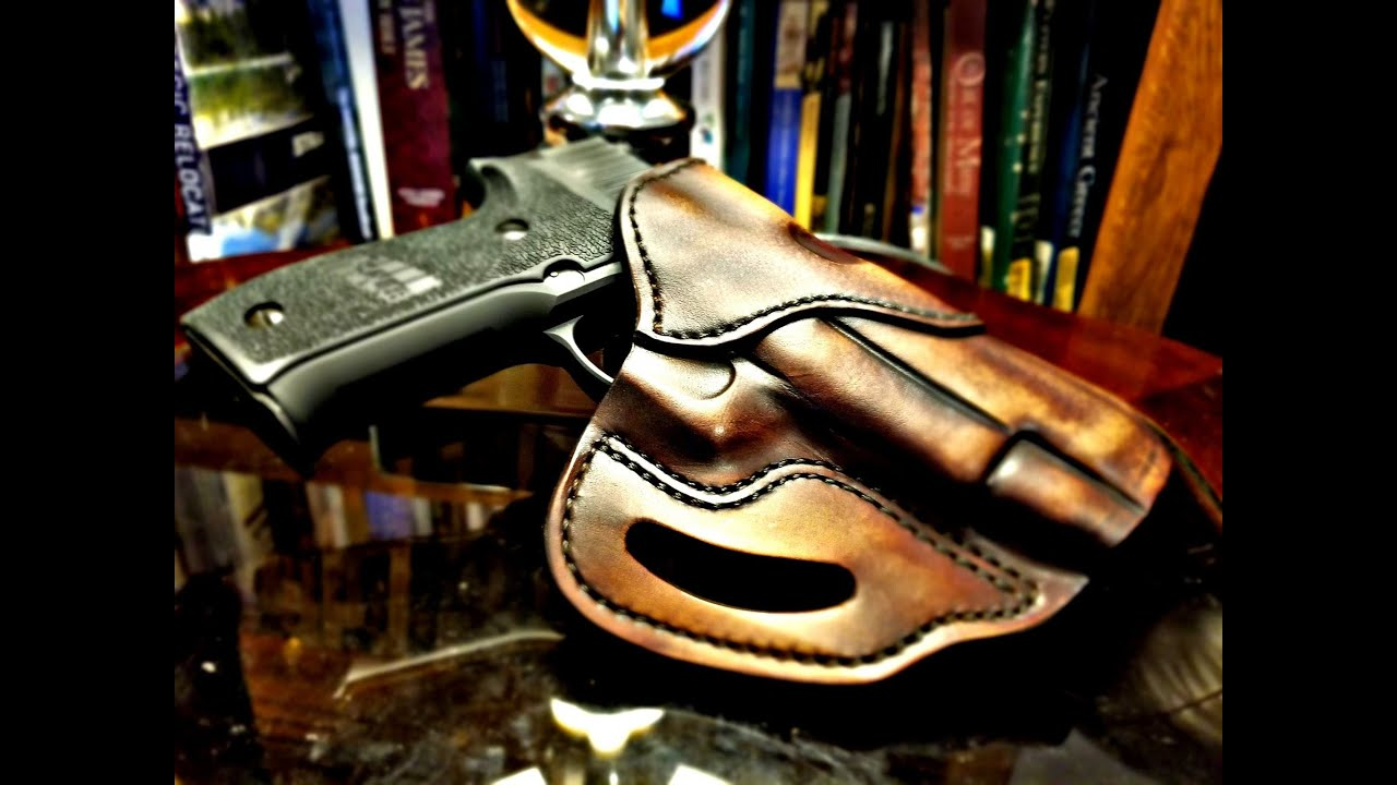 How to Break in a 1791 Gunleather Holster Leather stretching technique