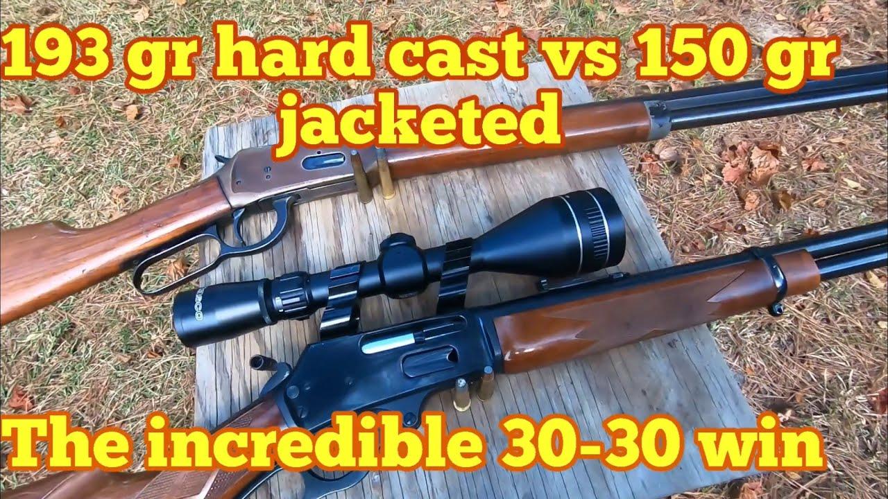 A Look at the 30-30 win ballistics 193 gr hard cast vs 150 gr Core lock