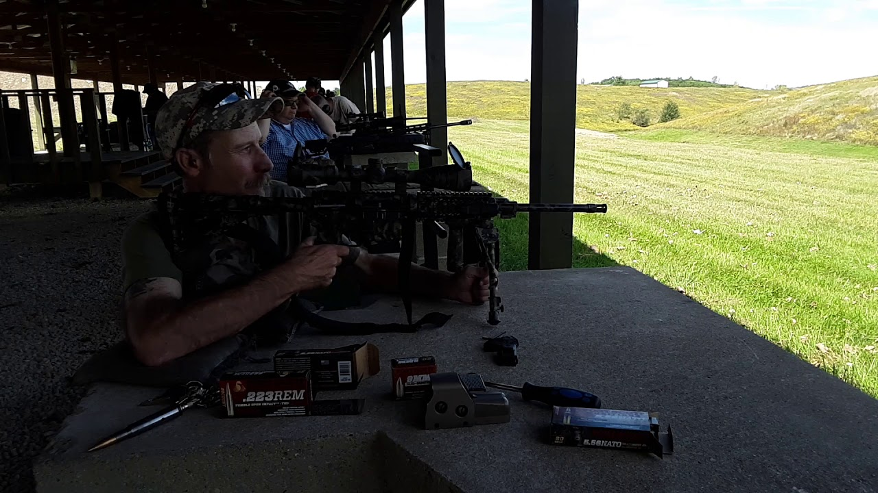 Put scope back on with no Zero with Fort Scott Munitions ammo with Ruger AR556
