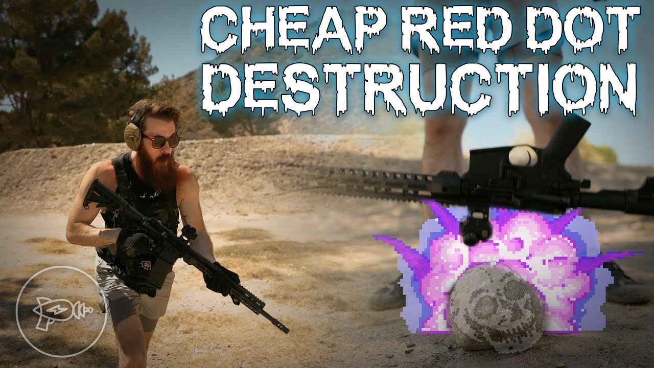 Budget Optics VS Rock? 🤔 Cheap Red Dot Destruction Test!