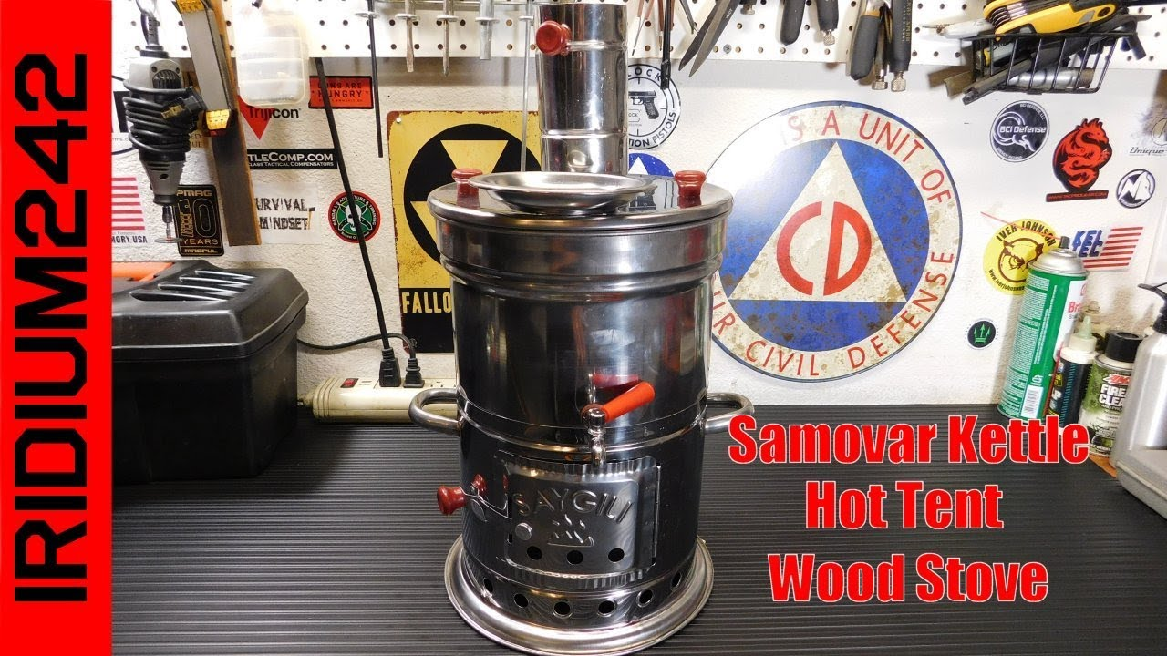 Samovar Kettle Hot Tent Wood Stove