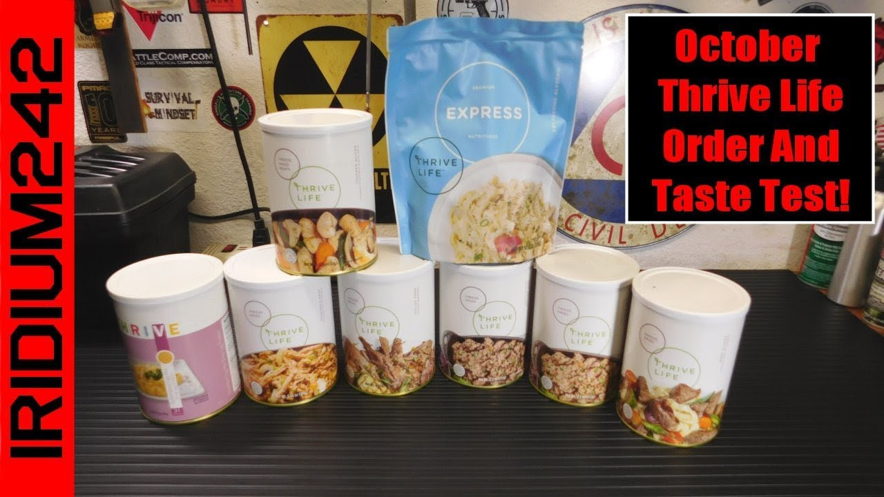 October Thrive Life Order And Taste Test!