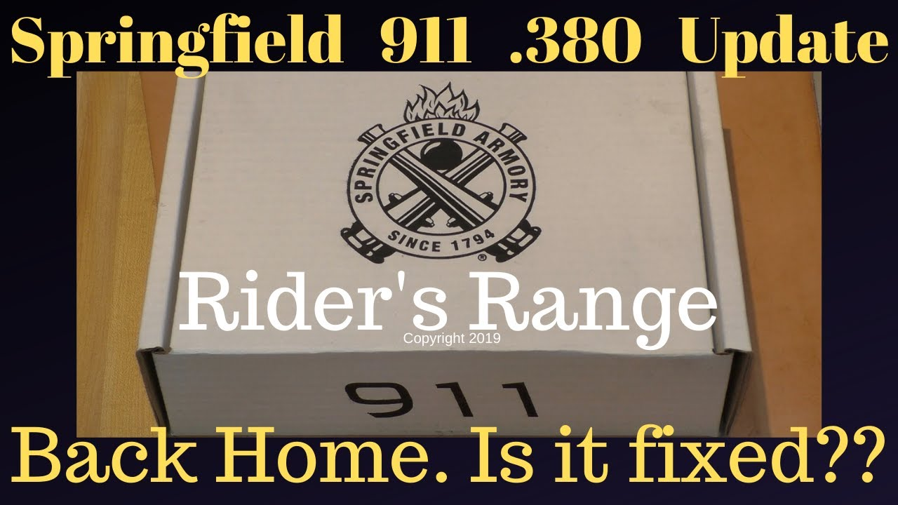 Springfield 911 .380 Update - Is It Fixed??