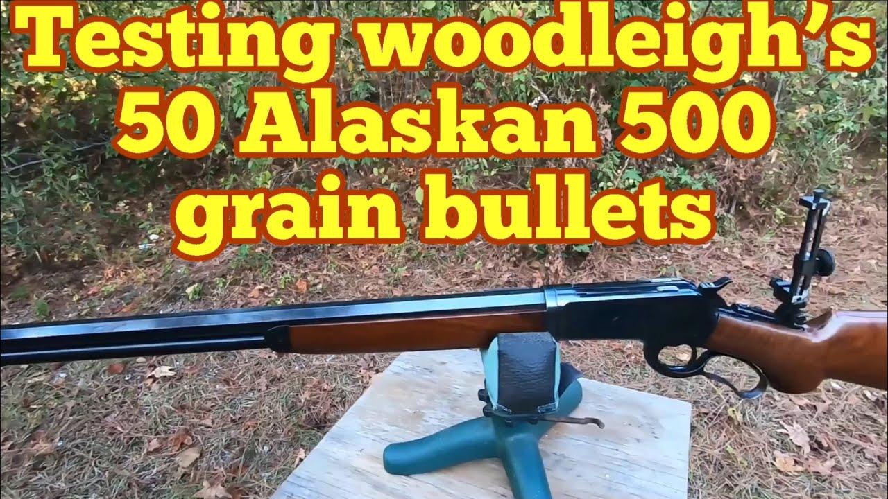 Testing woodleigh's 50 Alaskan 500 grain bullets in heavy bone and ballistic material