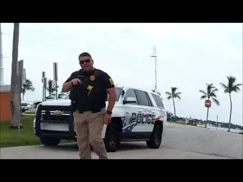 Tyrant Cop Threatens Me With His Gun For Going Fishing in  Lantana, Florida