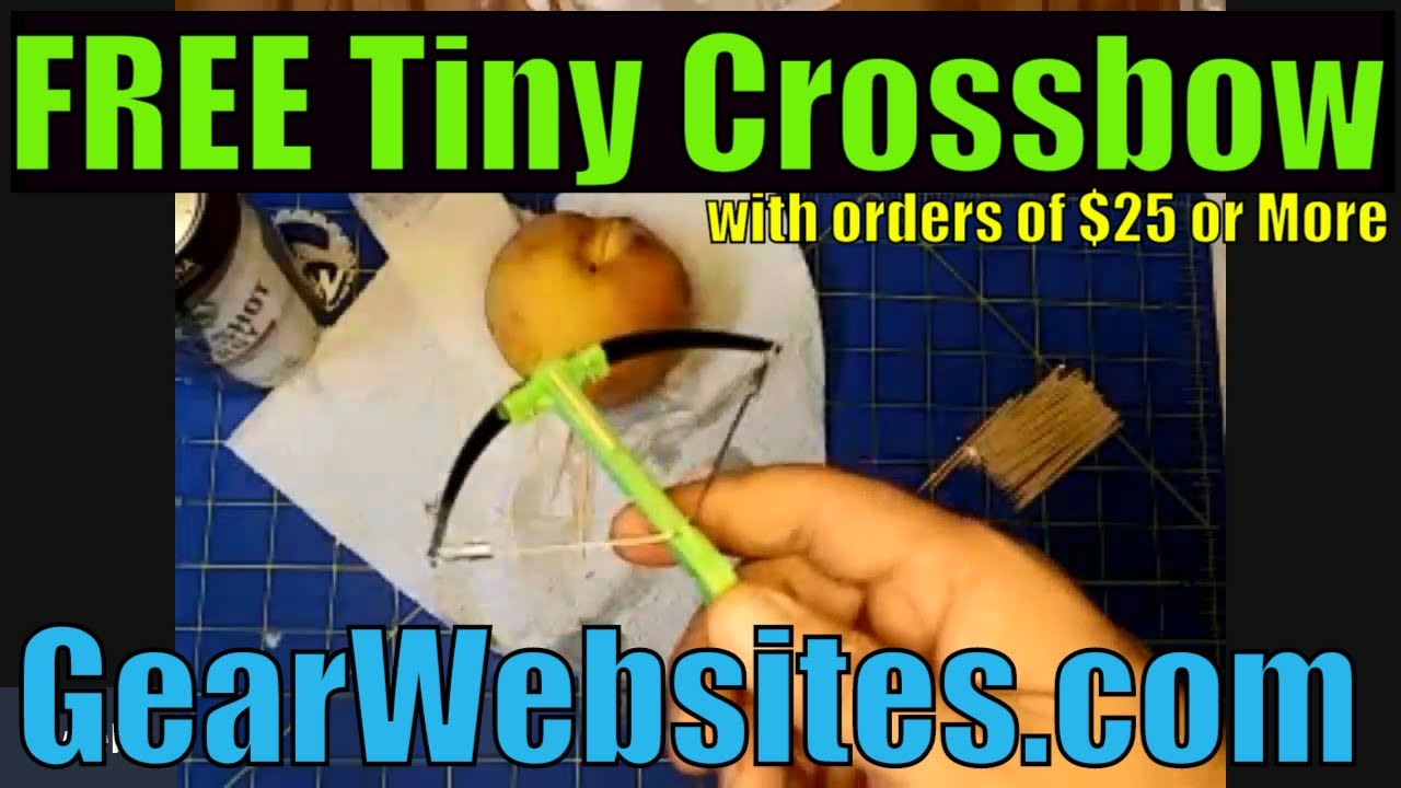 FREE Tiny Crossbow with orders of $25 or More