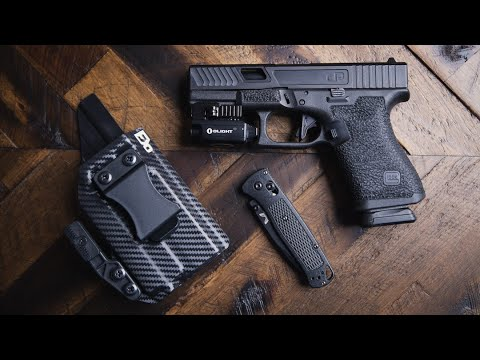 The Pyre Light Bearing IWB Kydex Holster by FDO industries | Holster for GLock 19 & Olight PL-MINI 2