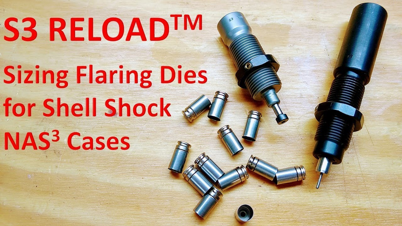 S3 RELOAD Sizing and Flaring Dies for Shell Shock Cases