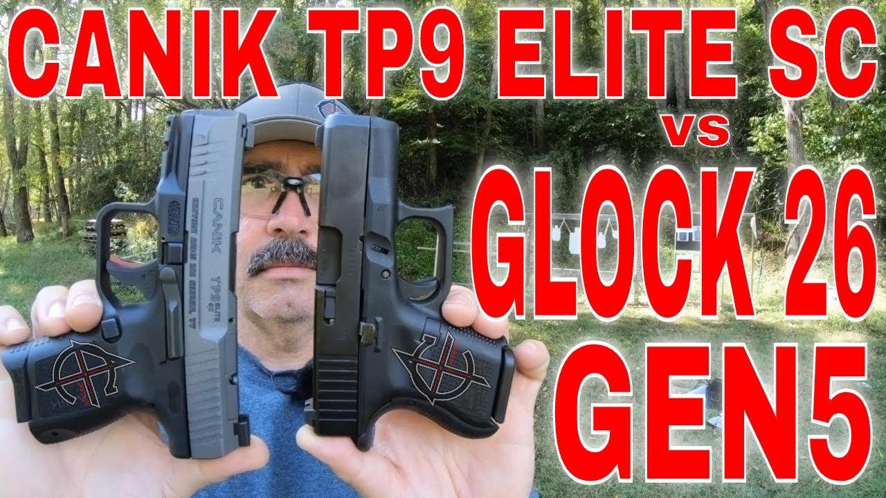 Glock 26 Gen5 vs Canik TP9 Elite SC