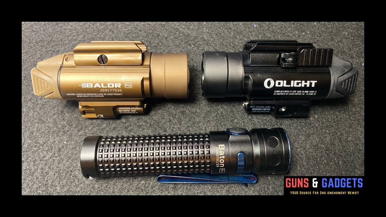 Olight Baton Pro and BALDR Pro with Green Laser