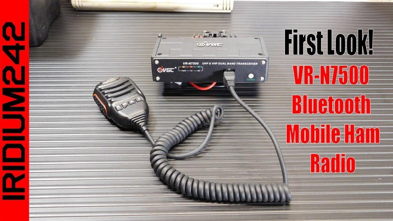 The Vero VR N7500 Bluetooth Mobile Dual Band Ham Radio