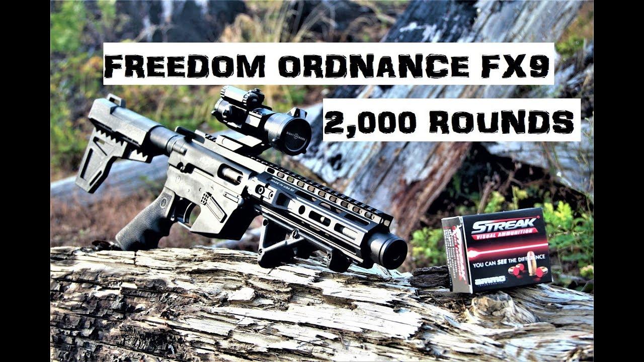 Freedom Ordnance FX9 Pistol [2,000 Rounds In]