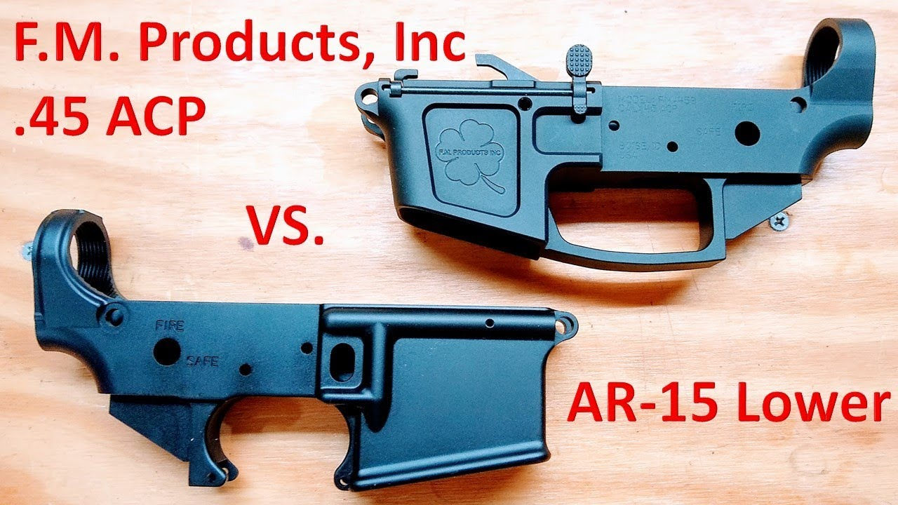 A Quick Look at the Foxtrot Mike Products .45 ACP Lower