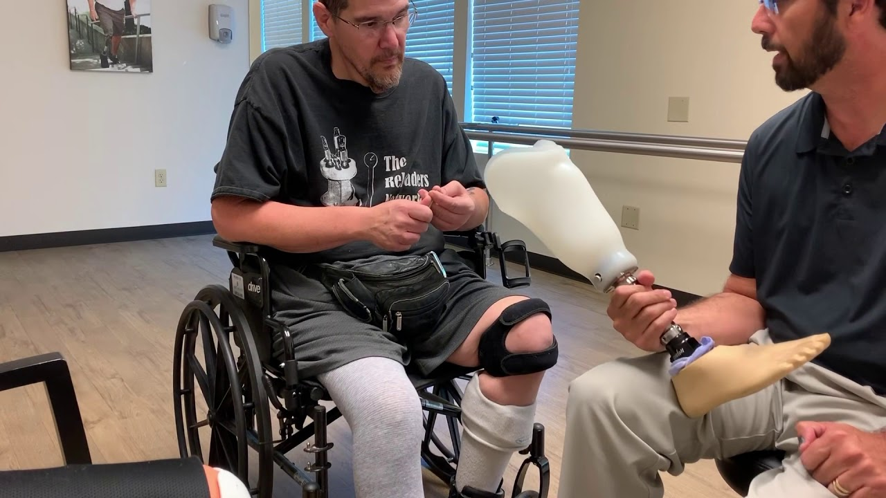 Just another day of a man trying to get a new leg sorry it a little long