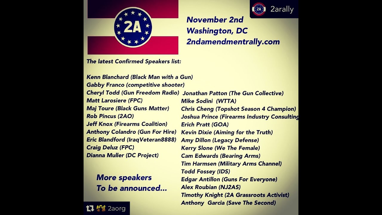 2A Rally Speaker Rundown