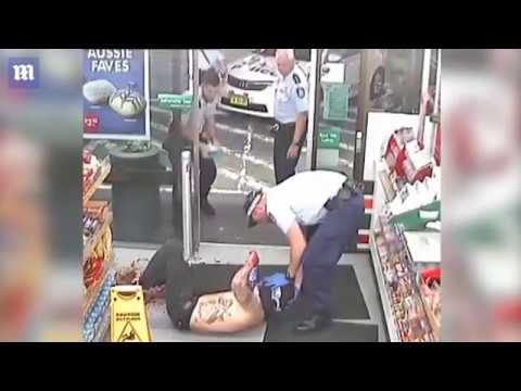An Axe? In a convenience store? No big deal?