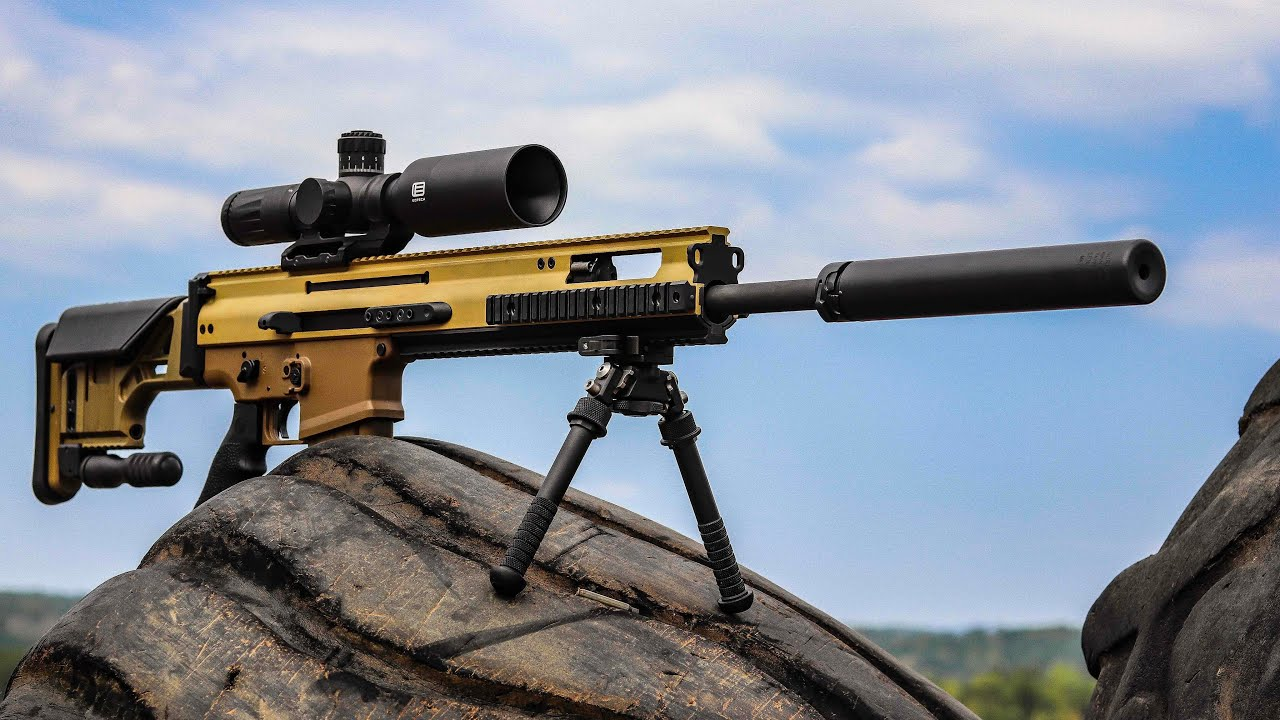 The Scar20 Suppressor | Surefire FA762SV-BK