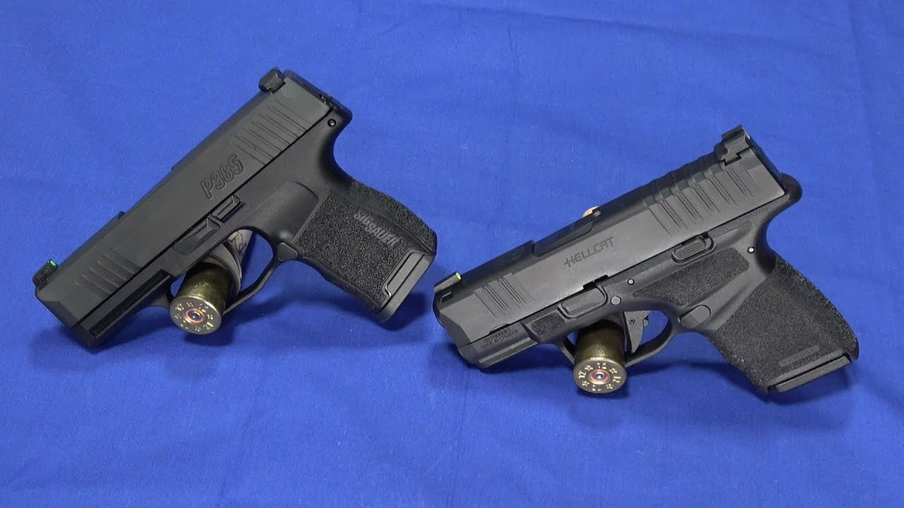 9mm Super Subcompacts Compared: Springfield Hellcat vs SIG P365
