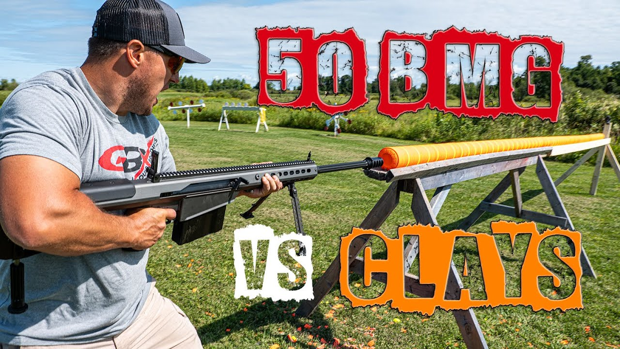 50 BMG vs Clays 💥How Many Will It Shoot Through | Gould Brothers
