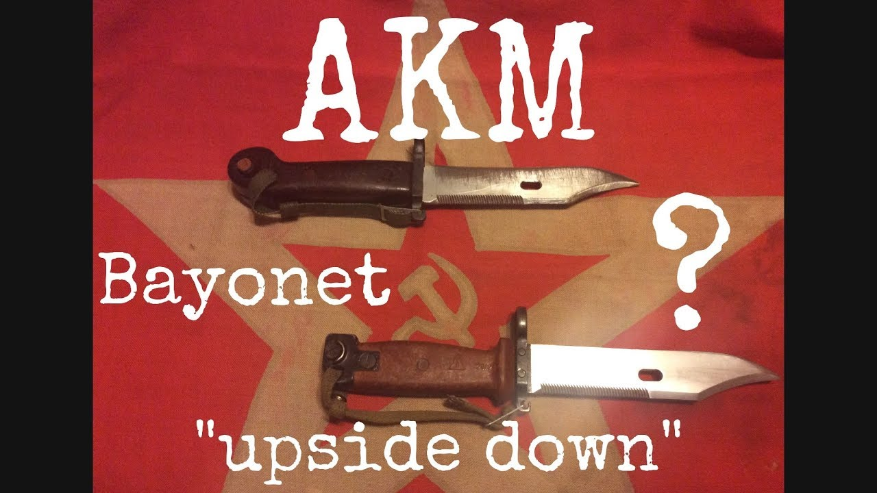 AKM bayonet not upside down , Why, Soviet doctrine