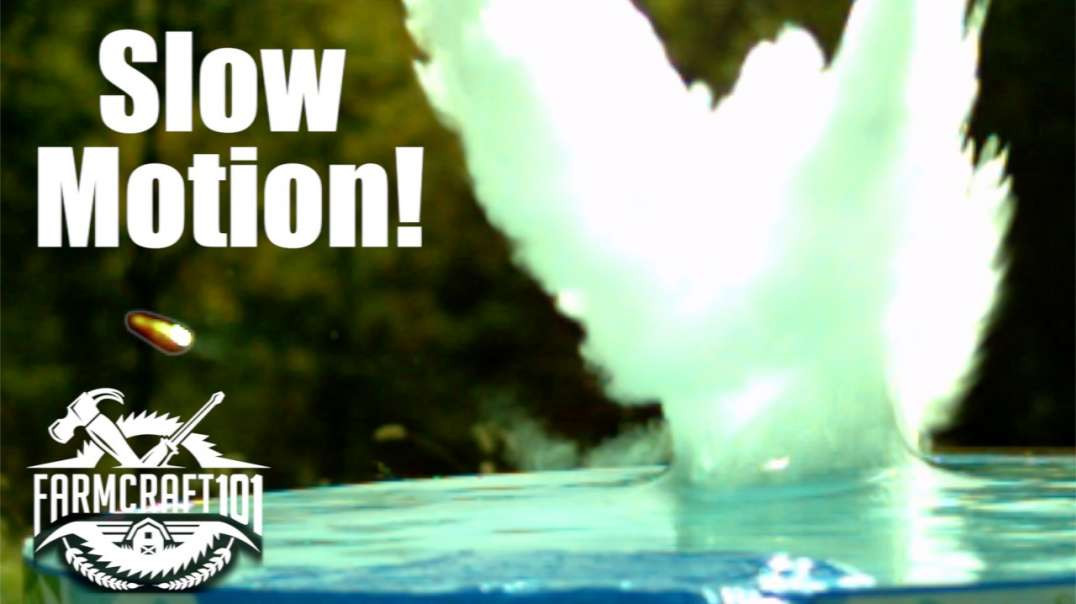 Skipping Bullets Off Of Water In Ultra Slow Motion.  GunCraft101