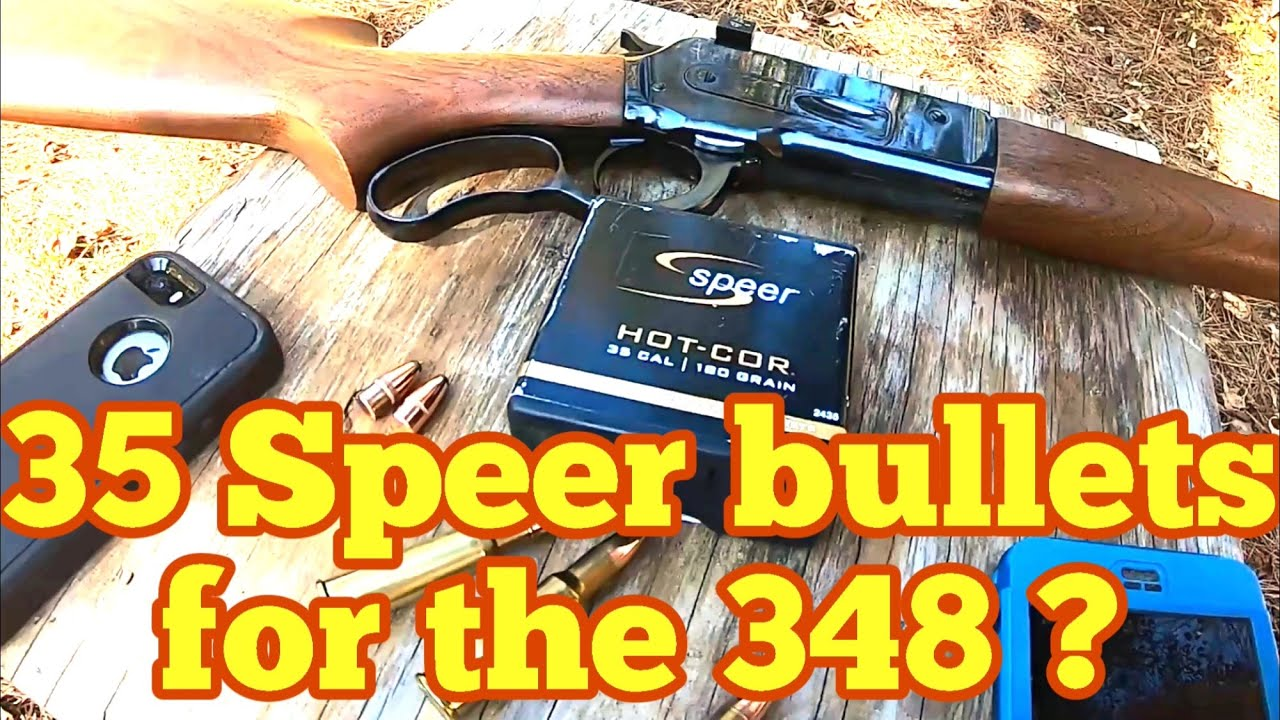 Part one Using cheap 35 caliber Spear 180 grain bullets in the 348 Winchester