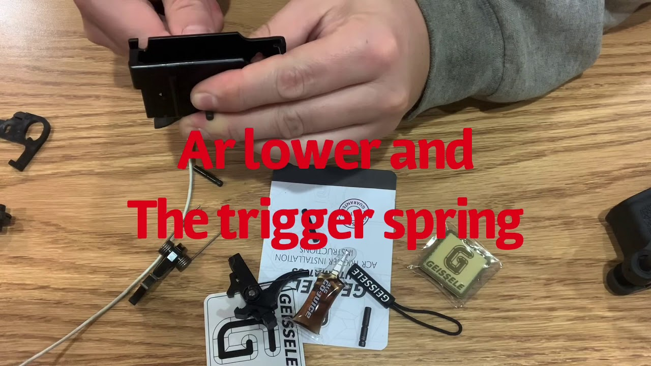 Acr and Geissele Super Acr Trigger kit
