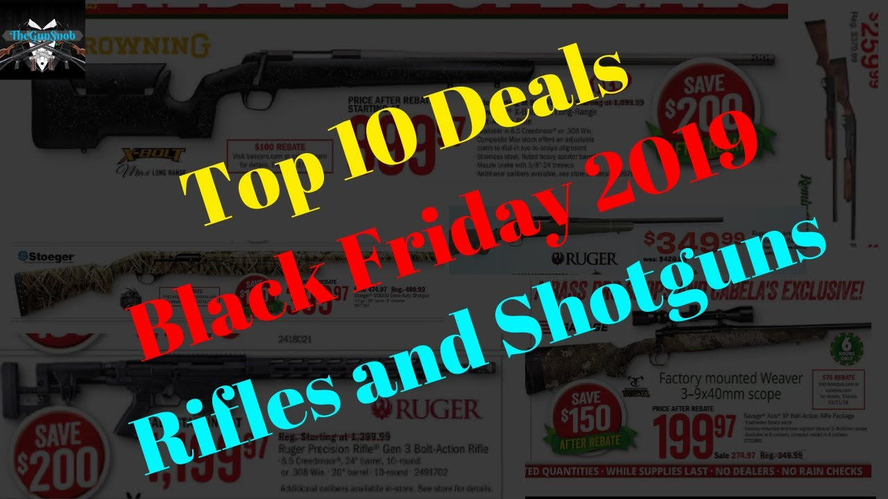 Top 10 Black Friday 2019 Deals on Rifles and Shotguns
