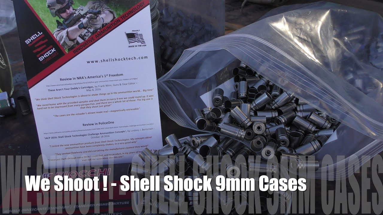We Shoot! - 9mm Luger Shell Shock Steel Cases