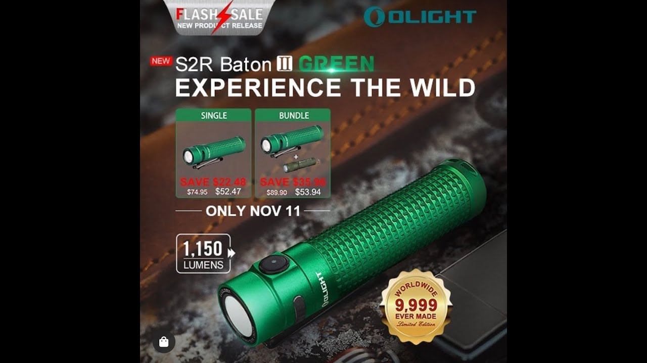 Olight S2R II ** LIMITED EDITION GREEN **