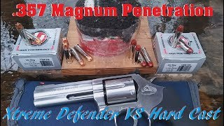 .357 Magnum Penetration- Xtreme Defender VS Hard Cast