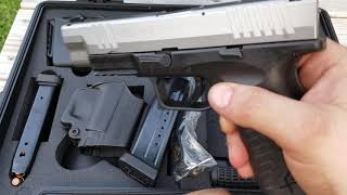 Springfield XDM 40 S&W Stainless slide.