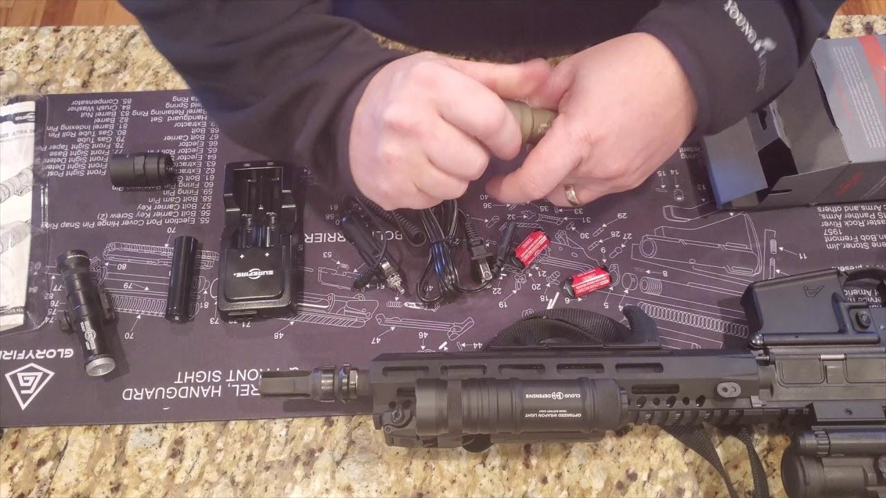 SUREFIRE M600DF Dual Fuel + SUREFIRE M600 Ultra Comparison