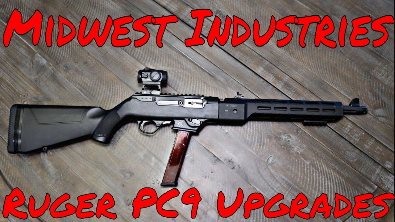 Ruger PC9 Rail And Bolt Handle Upgrades Midwest Industries