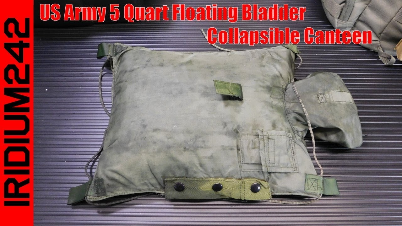US Army 5 Quart Floating Bladder Collapsible Canteen