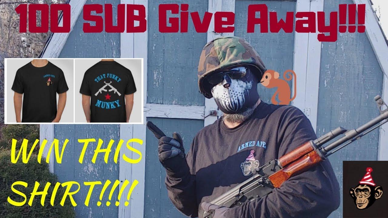 100 SUB T-Shirt Give Away!!! GAW GAW GAW