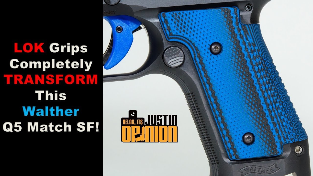 Amazing LOK Thin Grips on Walther Q5 Match SF