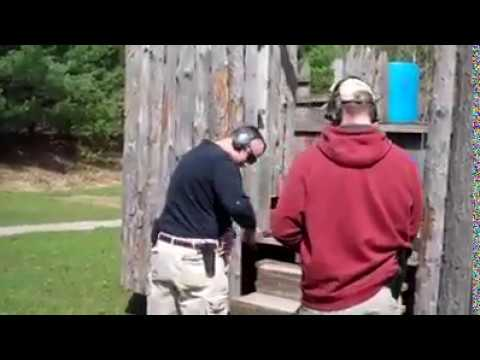 Holstering your gun done wrong. Always use a quality holster and be sure it is free from clothing.