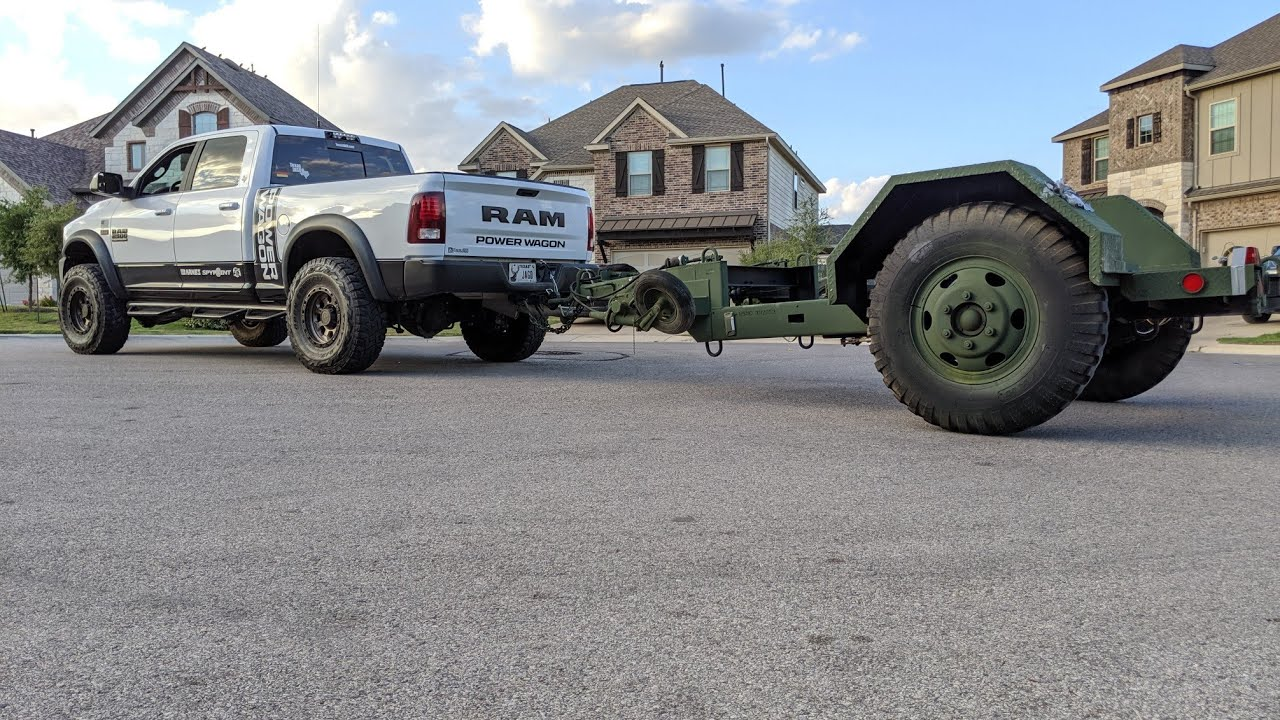 Battle Wagon Road Trip - picking up a M353 military trailer