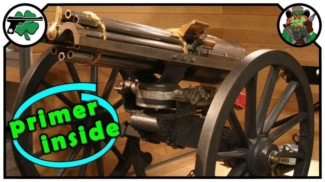 Antique Gatling Gun Cartridge & Other Internal Primer Cartridge Examples