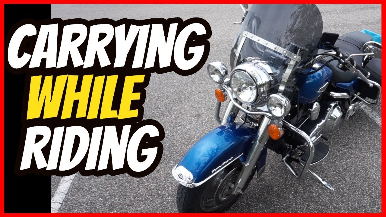 Carrying A Firearm While Riding A Motorcycle?