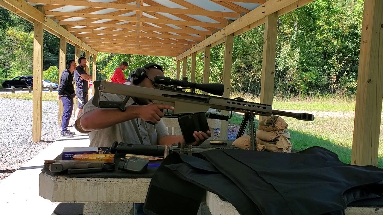Day at the range with a 50 cal