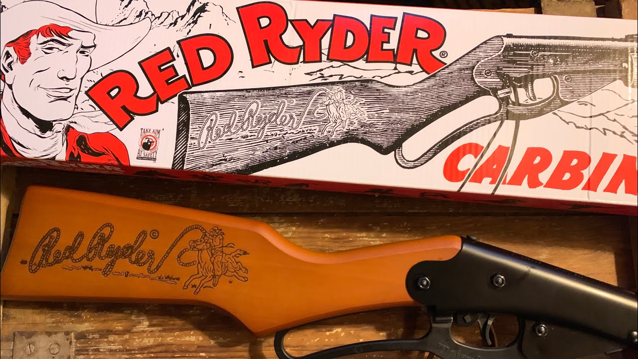 Full review of the Daisy red Ryder BB gun carbine. Will it shoot your eye out???