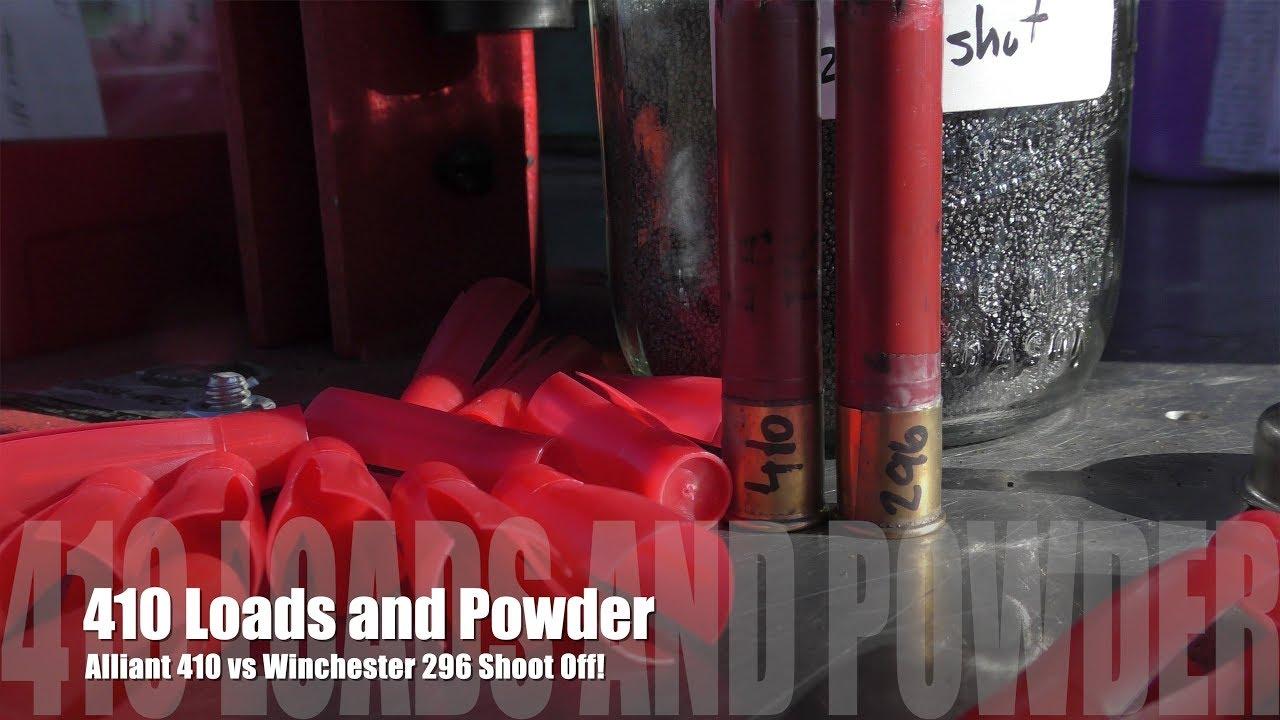 410 Loading - Powder Testing