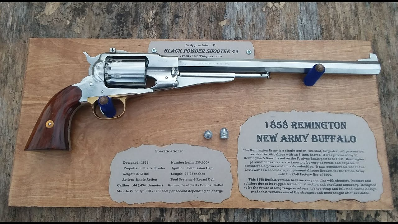 Black Powder Revolver Custom Plaques by Wood 'n Lead Products